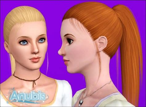 sims 3 high ponytail simple high ponytail hairstyle raonjena s 15 retextured by
