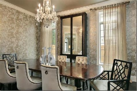 wallpaper dining room ideas 10 dining room designs with damask wallpaper patterns