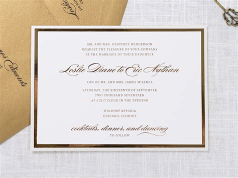 wedding invitations chicago il traditional wedding invitations chicago il unique custom and affordable wedding