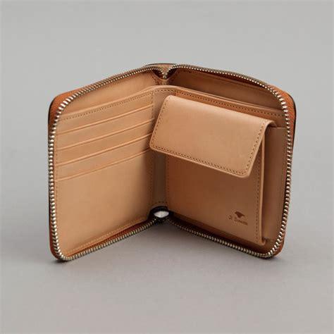 Zip Fold Wallet bi fold zip wallet chestnut beursies zip