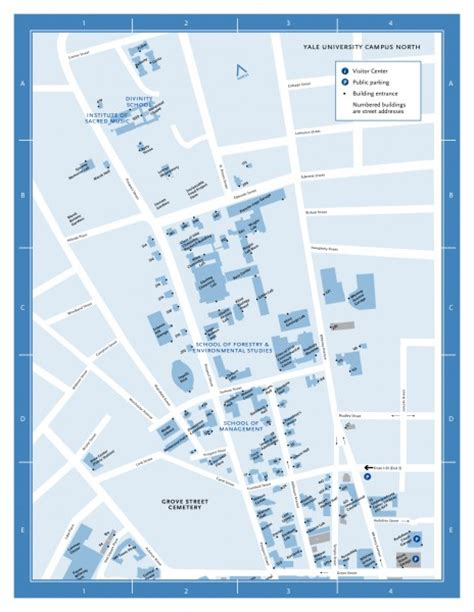 printable yale map yale university cus north map prospect street and