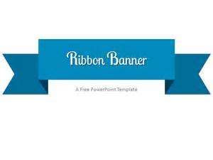 Logic Tables Blue Ribbon Banner Powerpoint Template