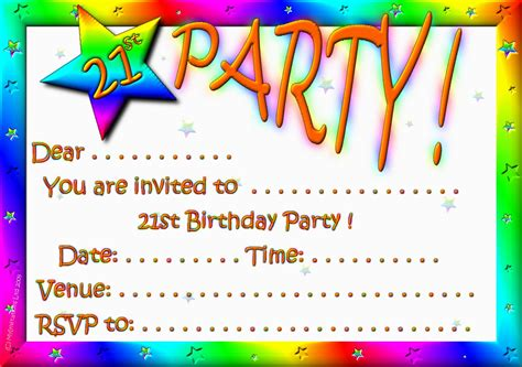 Printable Themed Party Invitations | best free printable rainbow themed birthday party