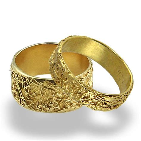 Wedding Rings Gold Band by Wires Weddings Band Set Wedding Rings Wedding Band
