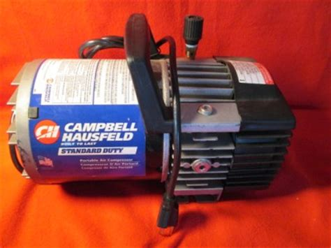 cbell hausfeld portable tankless air compressor 5 100psi pristine condition