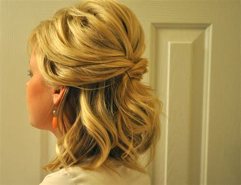how to do half up half down hairstyles wikihow beautiful photos of half up half down wedding guest