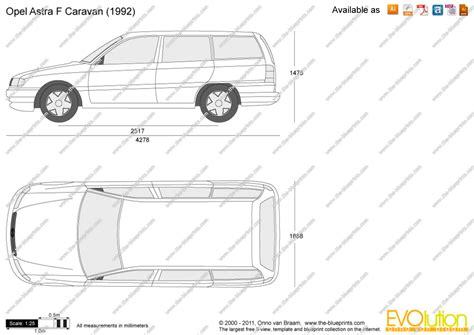 F Drawing Size by The Blueprints Vector Drawing Opel Astra F Caravan