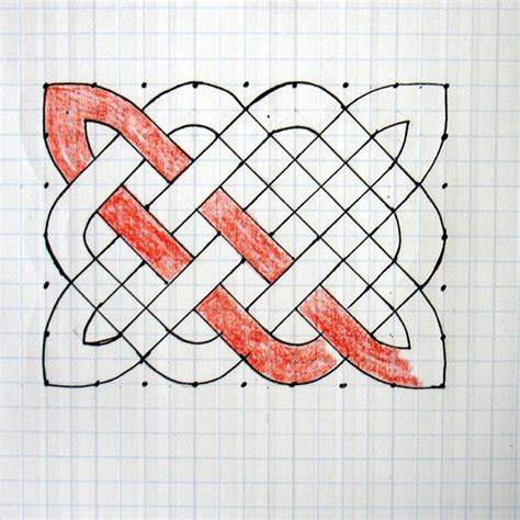 Knot Pattern - how to draw a celtic knot pattern