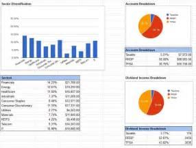 google finance dividend portfolio template a step by step