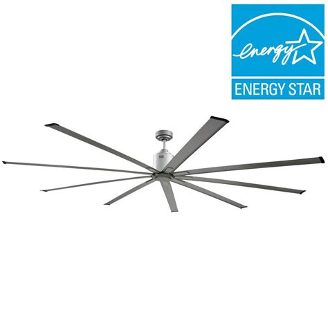 big air ceiling fan big air 72 in indoor metallic nickel industrial ceiling
