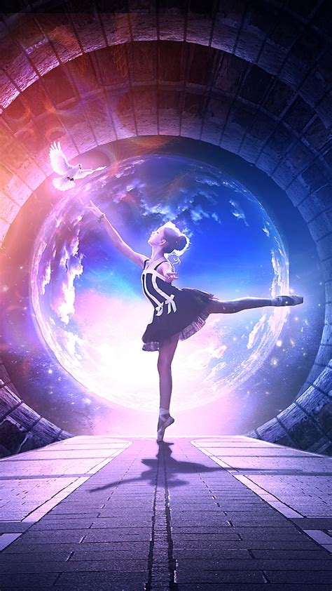 wallpaper dance girl dream pigeon hd fantasy