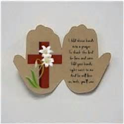 crafts religious handprint easter prayer