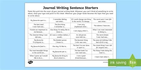 biography sentence starters ks2 journal writing sentence starters worksheet activity sheet