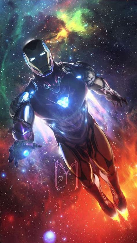 avengers endgame iron man space armor iphone wallpaper