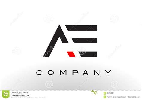 ae logo templates ae logo letter design vector stock vector illustration