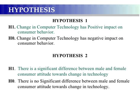 hypothesis exle for research paper research paper on computer technology