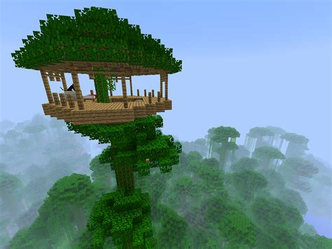 minecraft tree house i made a minecraft treehouse i planted one sequoia on top flickr