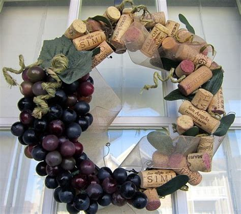 wine cork wreath cork wreath and wine corks on