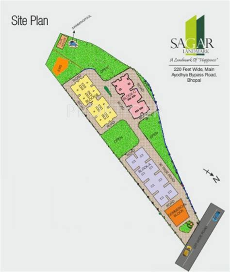 layout landmark 3 1220 sq ft 3 bhk 3t apartment for sale in agrawal sagar