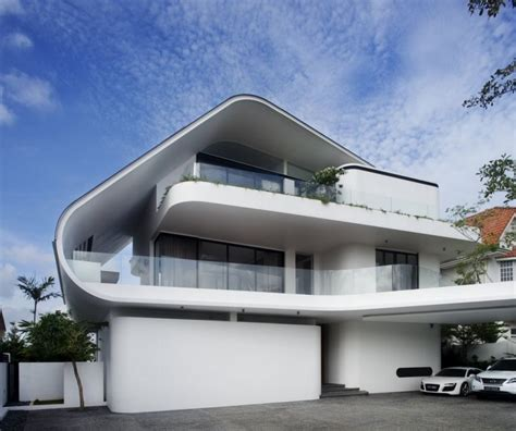 house architectural home design quirky modern white nuance of the exterior of