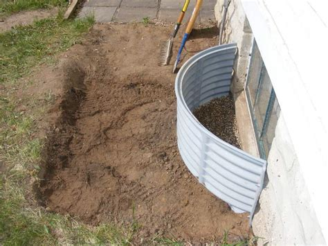 how to install a basement window well basement window well gravel