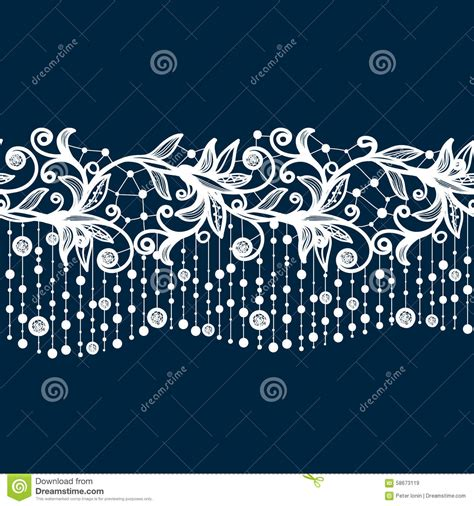 seamless pattern template abstract lace ribbon seamless pattern with elements