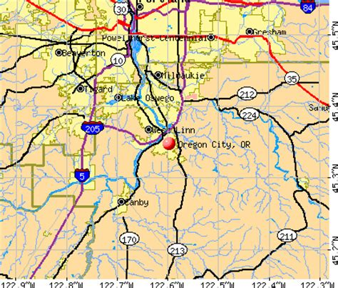 map of oregon city area oregon city map my