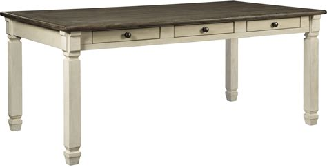 Dining Table White Gray Bolanburg White And Gray Rectangular Dining Table D647 25