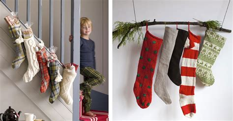 hang stockings without mantle alternative mantle ideas for decorating