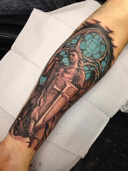 saint michael by raphael barros tattoonow
