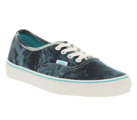 vans authentic acid denim blue trainers shoes ebay