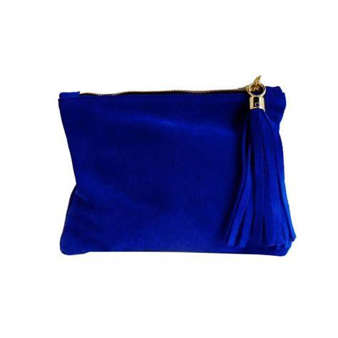 blue handbags royal blue clutch bag suede