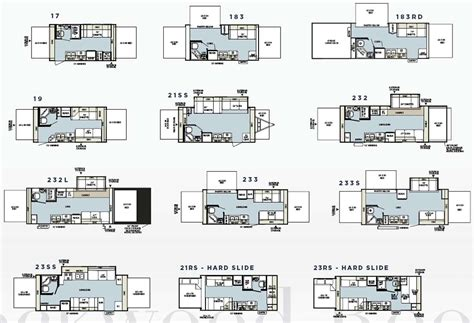 Rockwood Roo Floor Plans | forest river rockwood roo expandable travel trailer floorplans