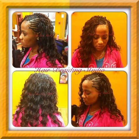 pictureof sewin braids hair braiding and weaving wave hair styles