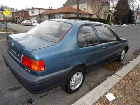 sell used 1994 toyota tercel std sedan 2 door 1 5l 82 hp 1 5 liter i 4 gas saver l k in