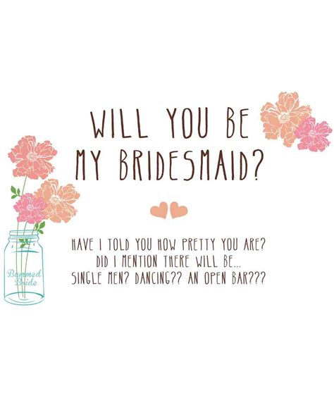 will you be my flower card template 12 quot will you be my bridesmaid quot cards we martha