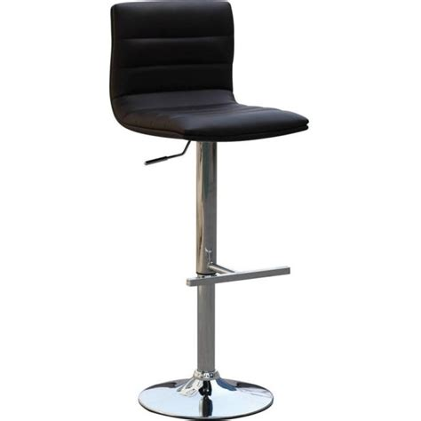 Gas Lift Bar Stools Uk by Retro Gas Lift Leatherette Bar Stool In Black