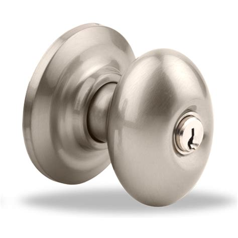 Yale Door Knobs by Shop Yale Security Yh Dartmouth Satin Nickel Egg Keyed Entry Door Knob At Lowes