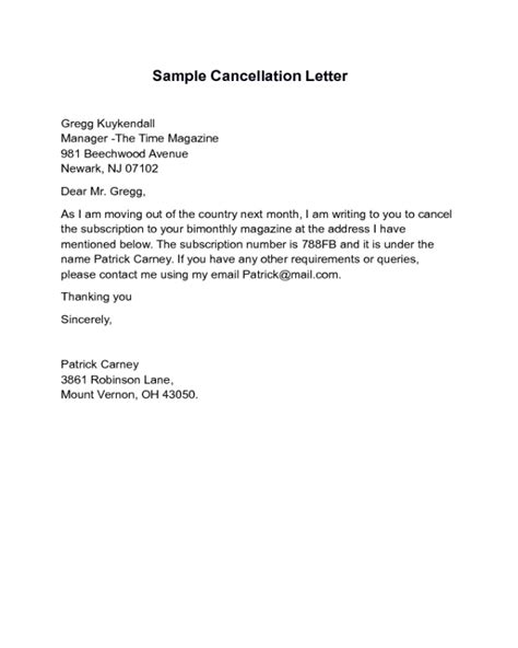cancellation letter pdf 2017 cancellation letter templates fillable printable