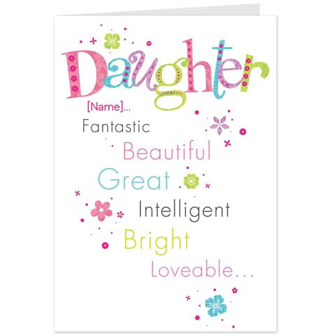 printable birthday cards daughter printable birthday cards for mom from daughter www