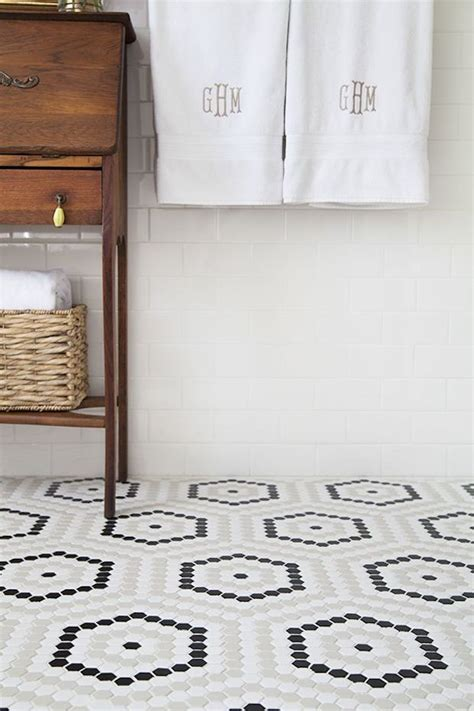 hexagon bathroom floor tiles 34 white hexagon bathroom floor tile ideas and pictures