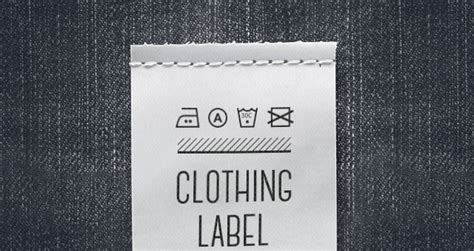 Psd Clothing Label Mockup Miscellaneous Pixeden Woven Label Template
