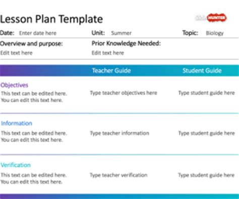lesson plan powerpoint template free education powerpoint templates for presentations