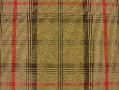 tartan curtain fabric uk balmoral hunter wool effect washable thick tartan curtain