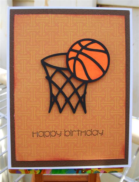 Basketball Birthday Cards Handmade Happy Birthday Dad Baksetball Card By