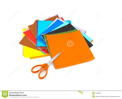 colorful origami colorful origami paper stock image image 16759691