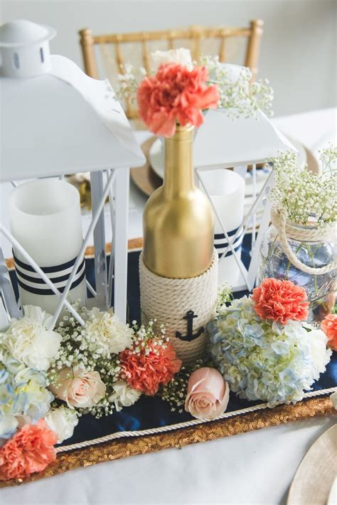 diy wedding reception centerpieces diy nautical wedding centerpiece