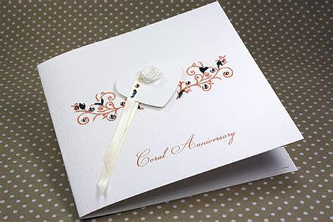 Wedding Anniversary Cards Handmade - handmade anniversary card quot coral wedding quot