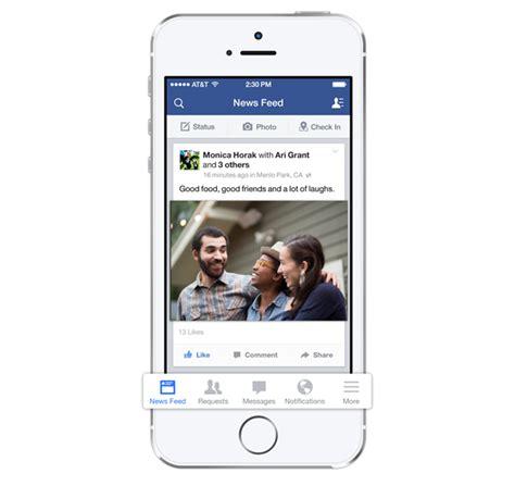 update layout ios facebook ios 7 update live new bottom menu brings easier