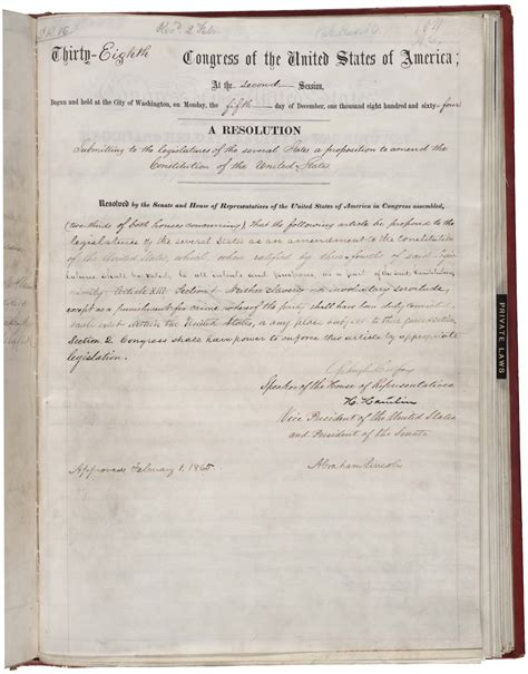 13th amendment section 2 the bill of rights